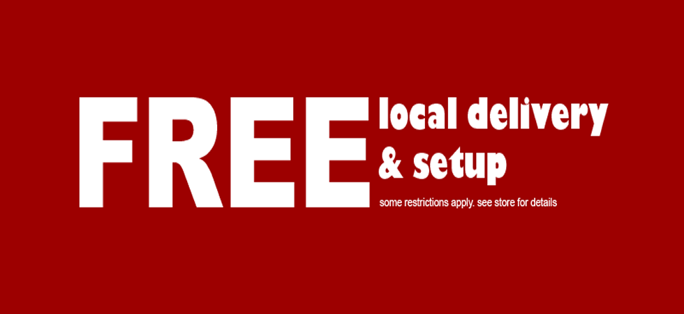 Free in home delivery and setup with all furniture purchanses